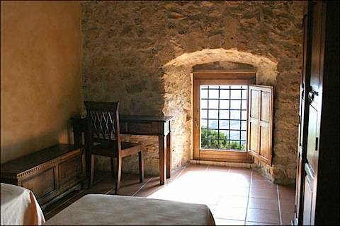 One of the chambers of the Fortress Monastery of Santo Spirito in Ocre near L'Aquila in Abruzzo Italy